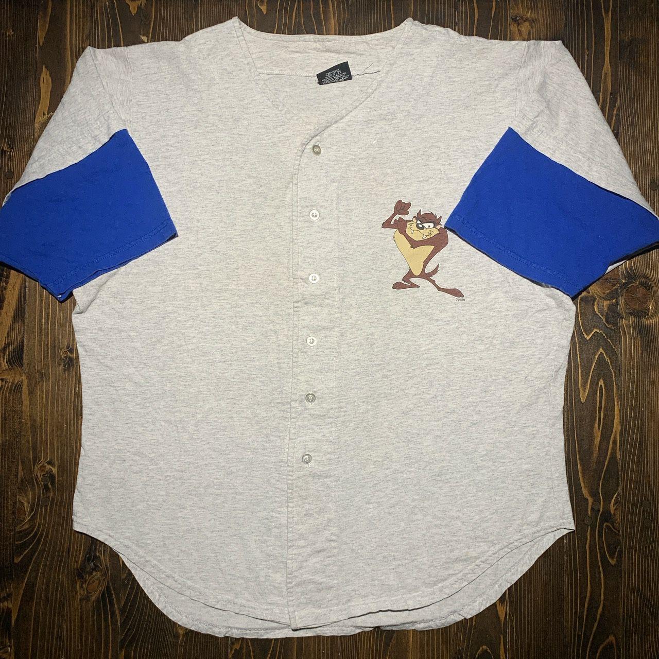 Vintage 90s Taz looney tunes baseball tee shirt