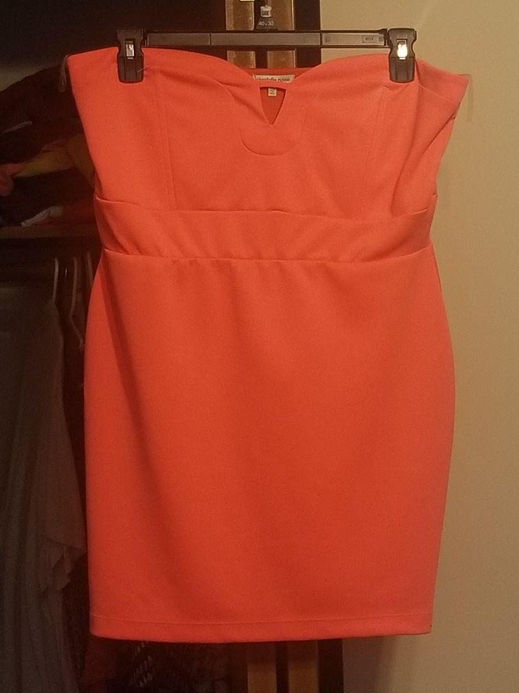 XL charlette russe neon pink or orange dress