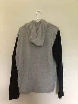 Adidas hooded sweatshirt black and gray size Medium  Thumbnail