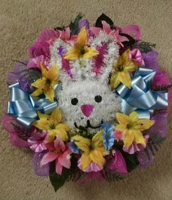 Easter Bunny wreath Thumbnail