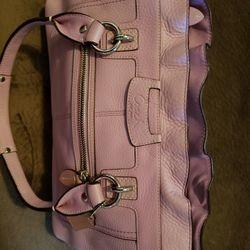 Leather Lavender Coach Bag  Thumbnail