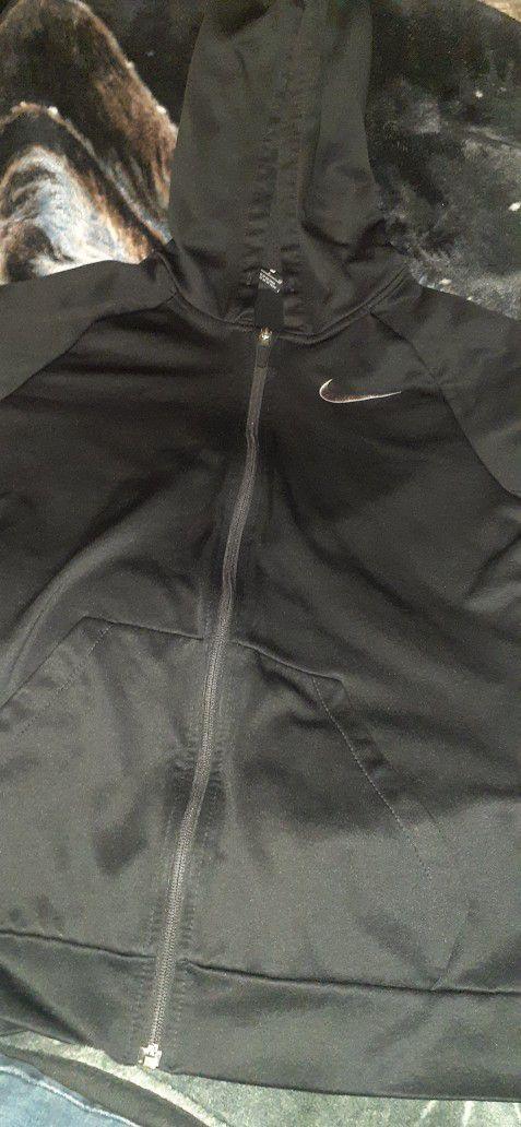 Nike Dri Fit Zip Up Hoodie Black Size S (Small)