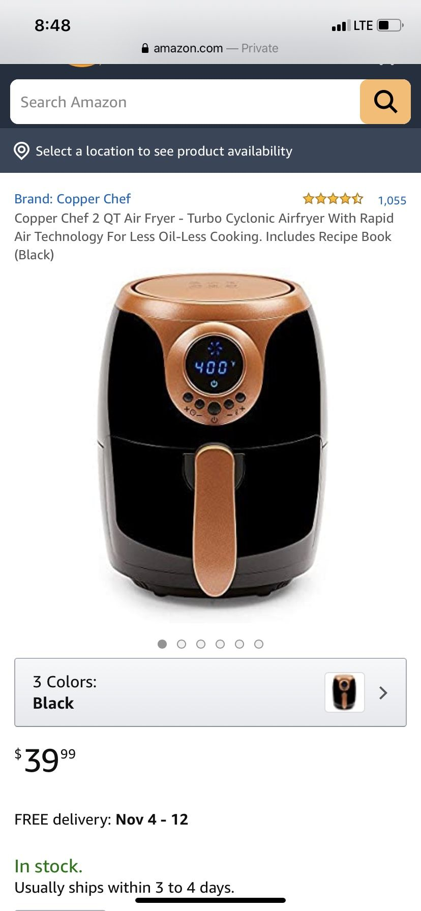 Copper chef air fryerBrand new in the box never used
