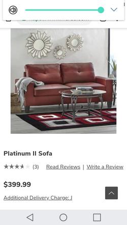 Platinum II Loveseat and Sofa Thumbnail