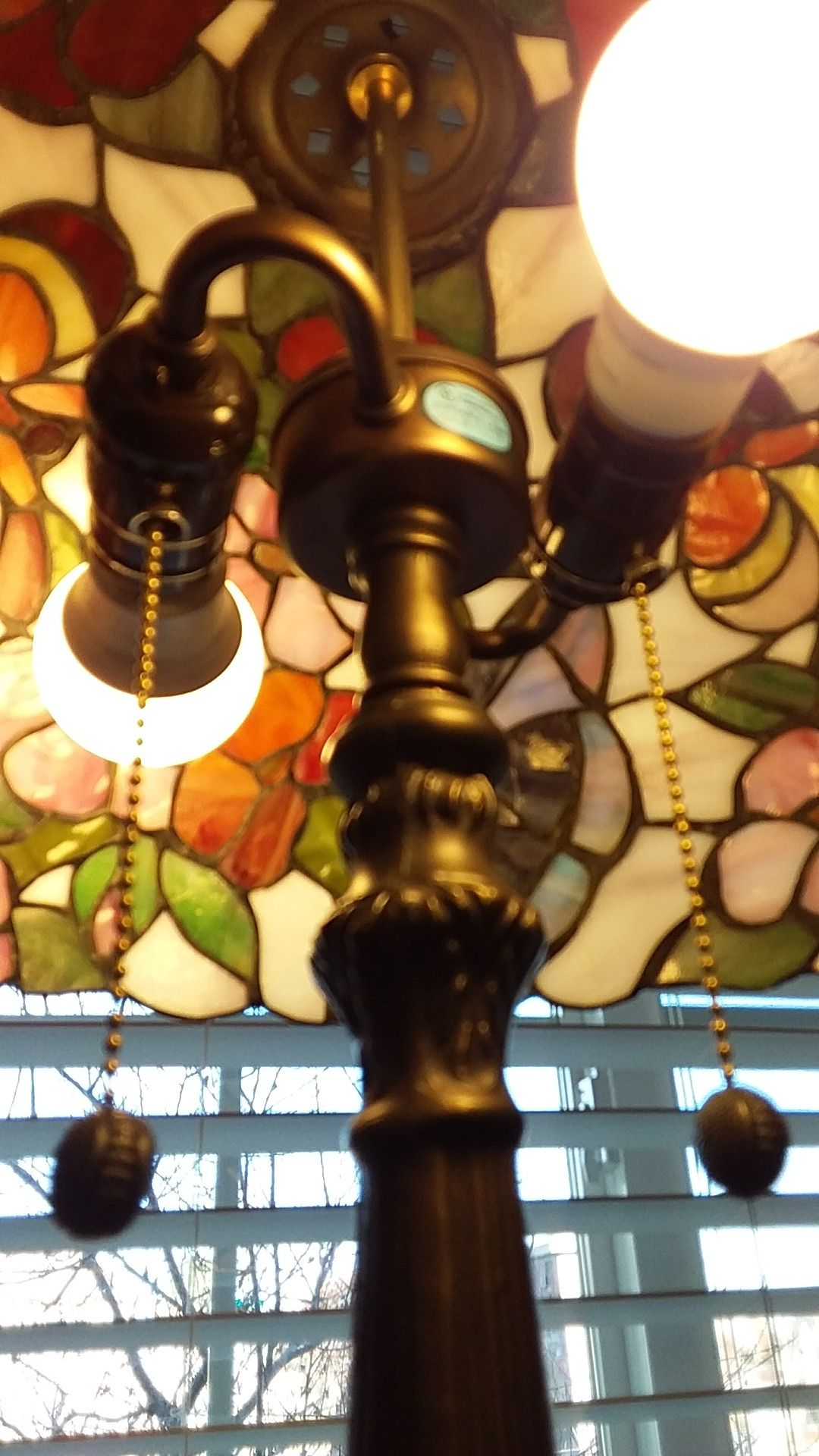 """Stained Glass Lamp 27"""""""