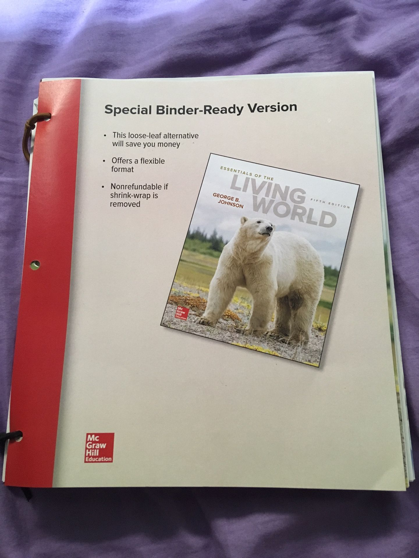 Biology 101 Textbook - Essentials of the Living World