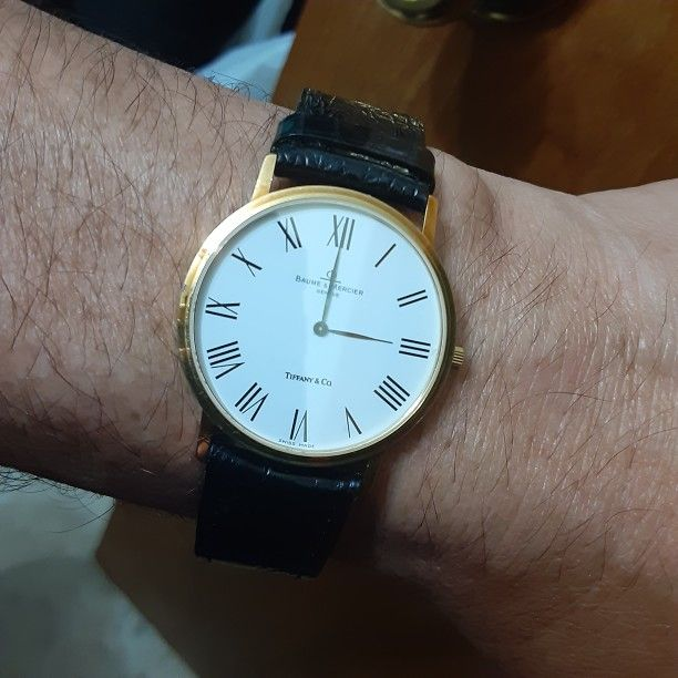 Baumer & Mercier Tiffany Wach Classima 18k Gold Is Used In New Condition Negociable.
