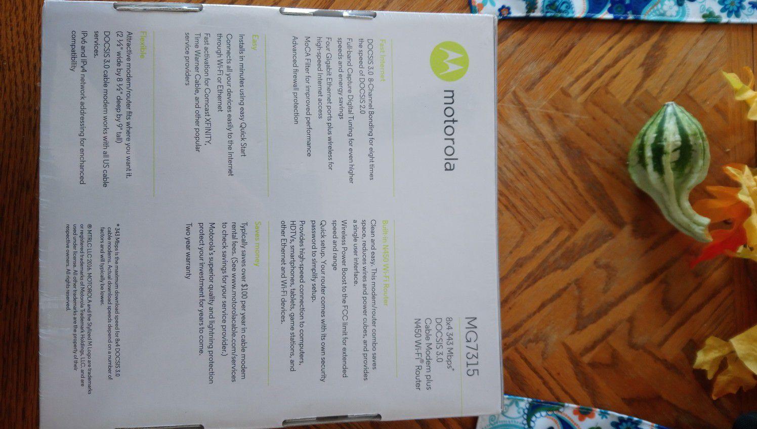 Motorola MG7315 router modem