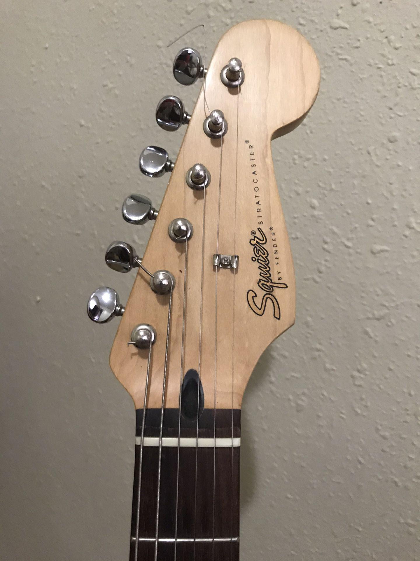 1998 Squier Stratocaster Guitar MIM HSS