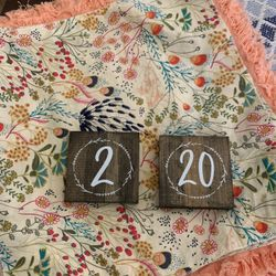 Wedding Table Numbers 1-20 Thumbnail