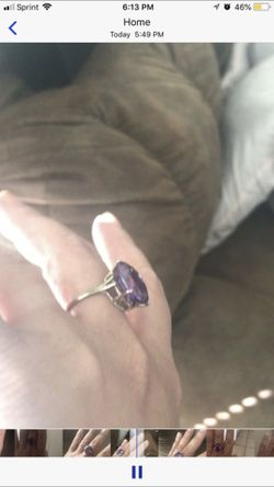 Alexandrite Stone Ring / Changing Colors Size 7 Thumbnail