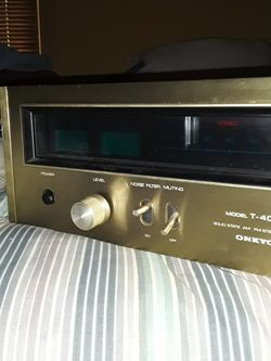 ONKYO T-4055 SOLO STATE STEREO TUNER Thumbnail