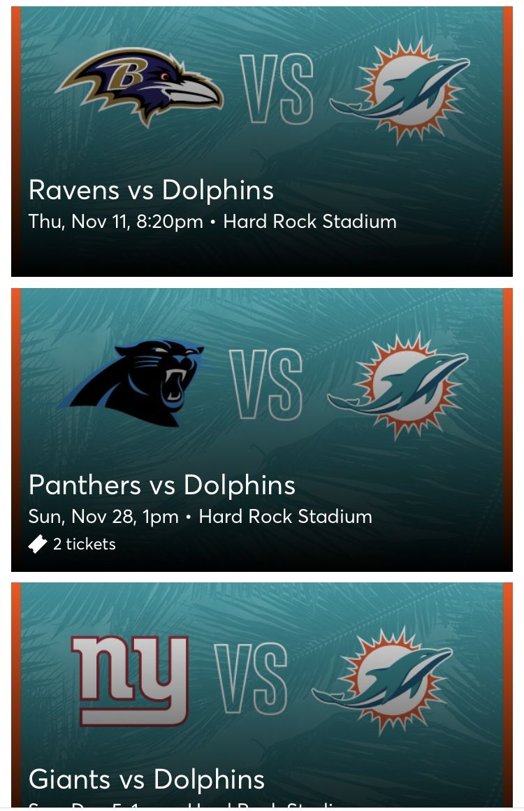 Dolphins Tickets