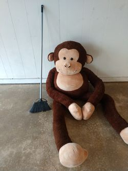6.5 foot stuffed animal monkey huge toy Thumbnail