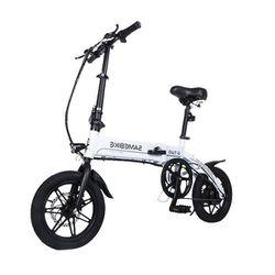 Samebike Electric Folding Bicycle Moped White Electric Bike E-bike 36V 8AH Lithium Battery for Adult YINYU14 Thumbnail