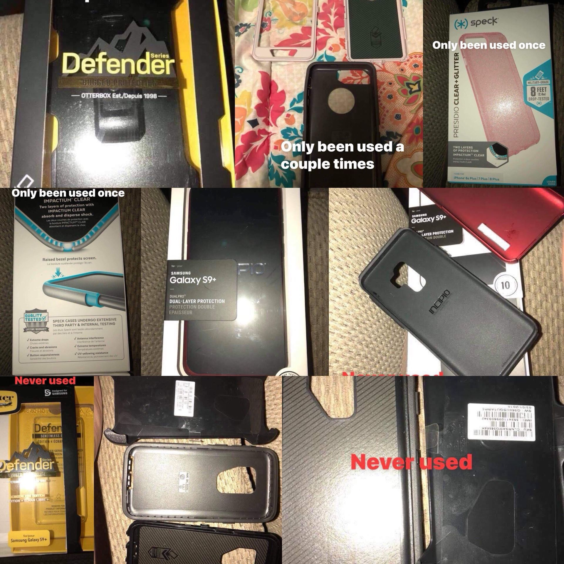 iPhone 8 plus And Samsung Galaxy S9+ Cases
