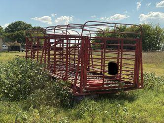 Handmade Cattle Gooseneck Trailer Thumbnail