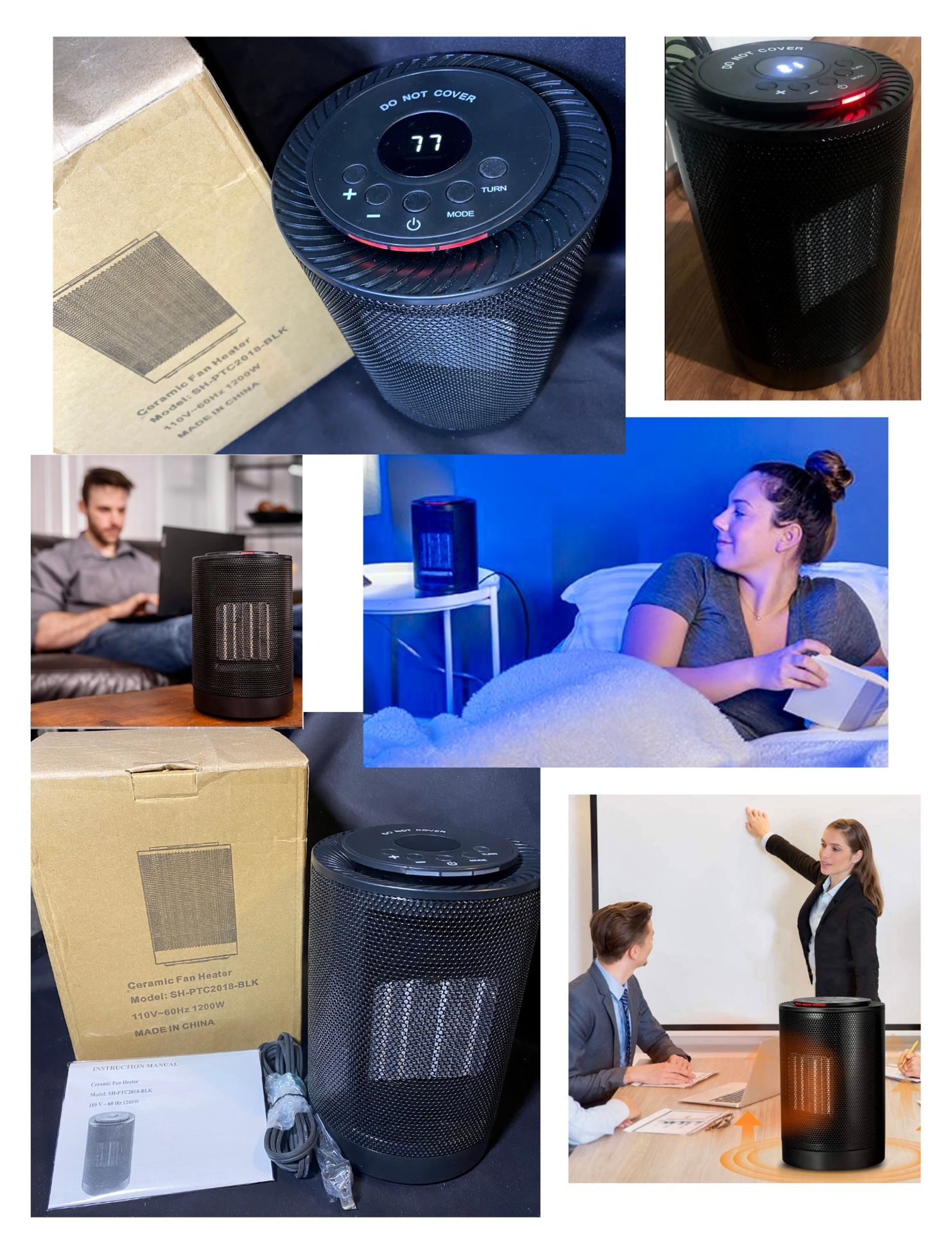 Brand New Black Electric Portable Space Heater