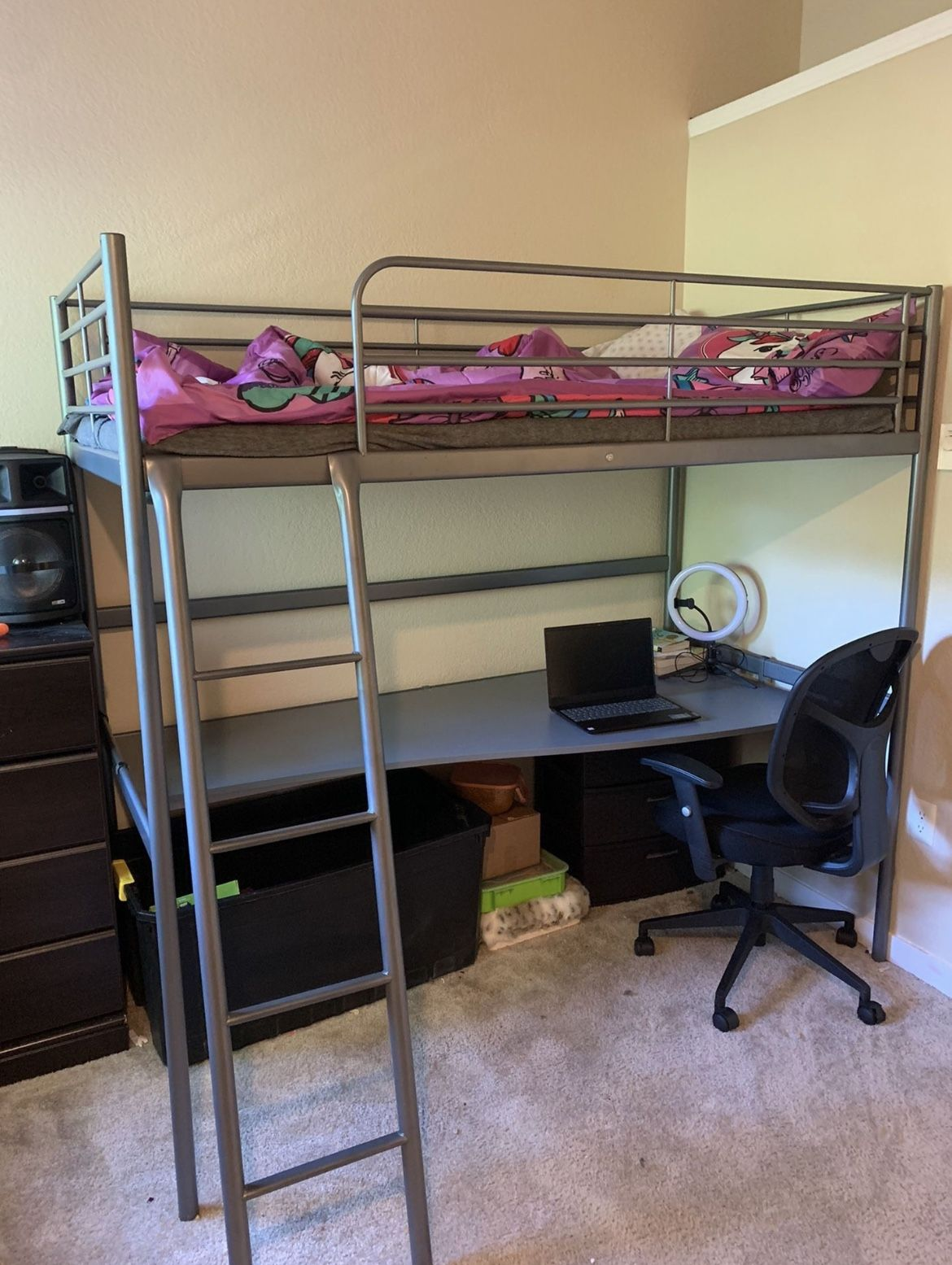 Bed With Desk- Litera Con Escritorio