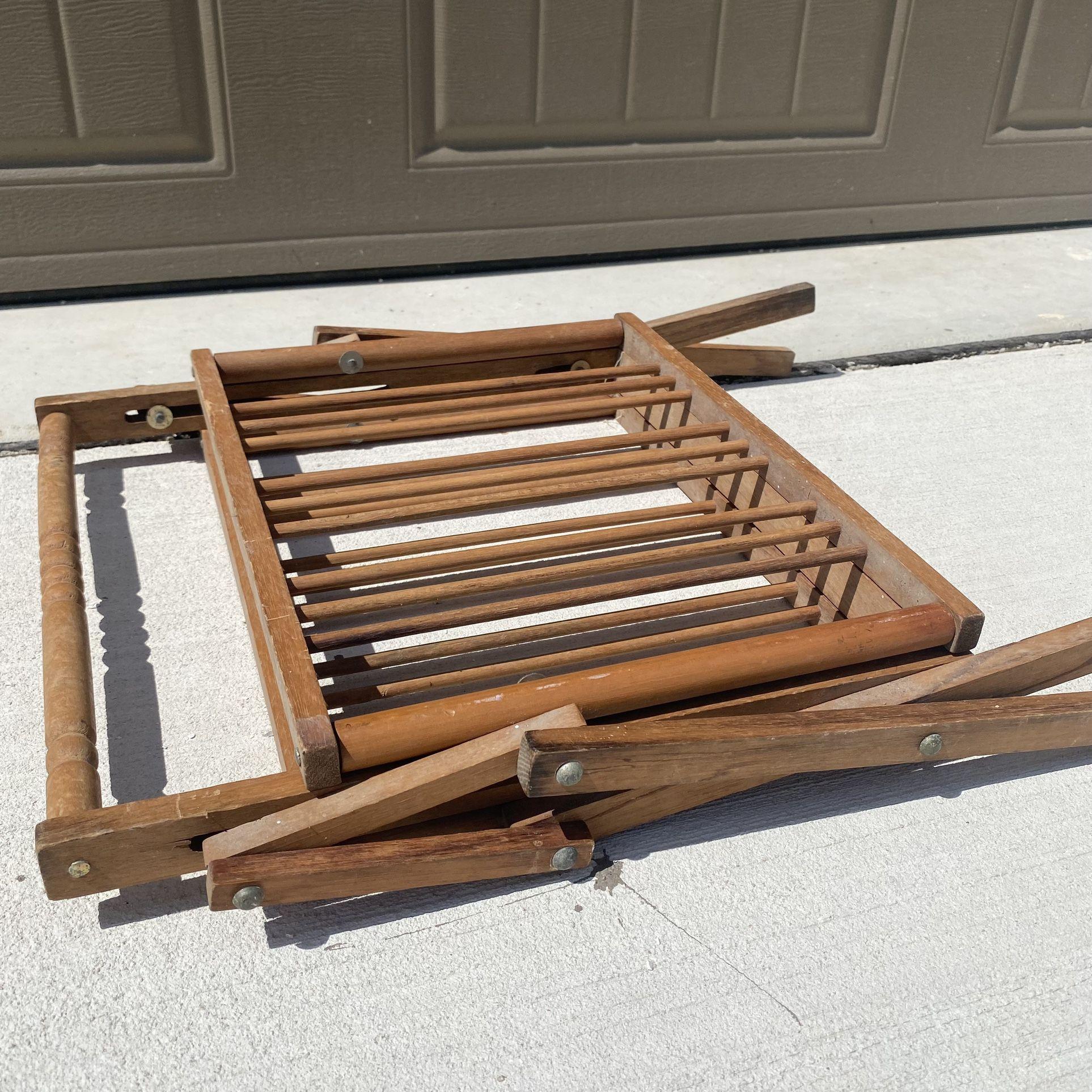 Antique Wooden Magazine Rack