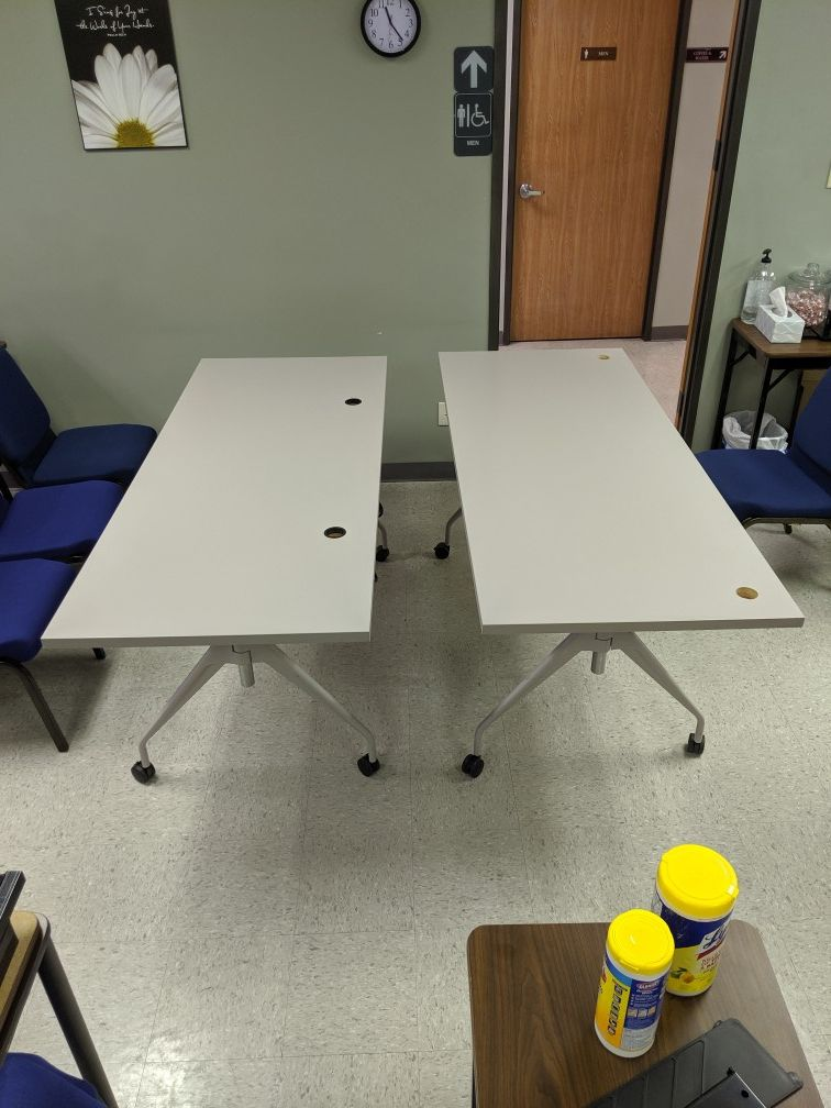 2 Rectangular power sit to stand tables selling by each