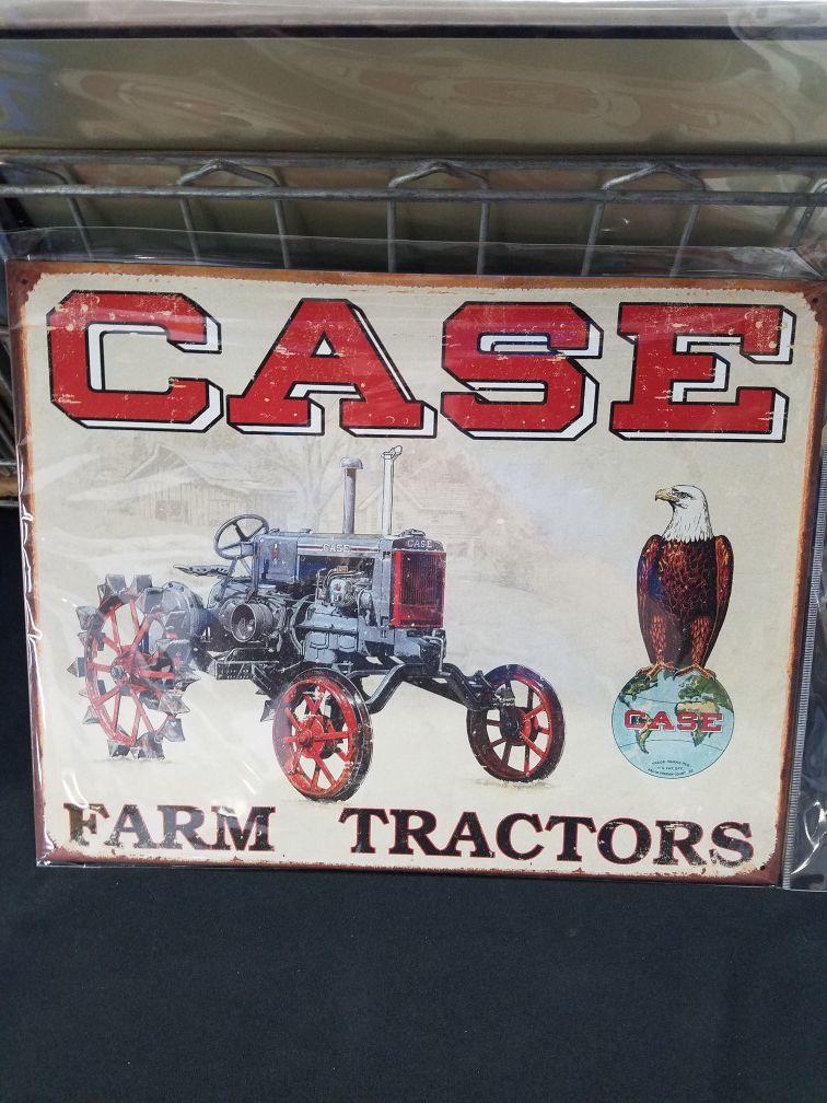 Case farm farming tractor metal sign