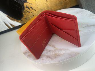 L.V x Supreme Wallet In Red Thumbnail