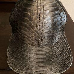 Genuine Python and Fishnet Cap Thumbnail