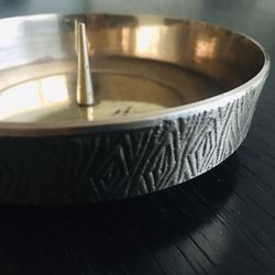 Vintage Brass Candle Holder Thumbnail