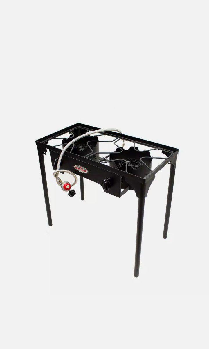 Portable Double Burner Propane High Pressure Outdoor Cooker Steel New