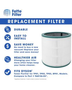 ars  990 R Fette Filter - 2 Pack of Air Purifier True HEPA Premium Grade Filters Thumbnail