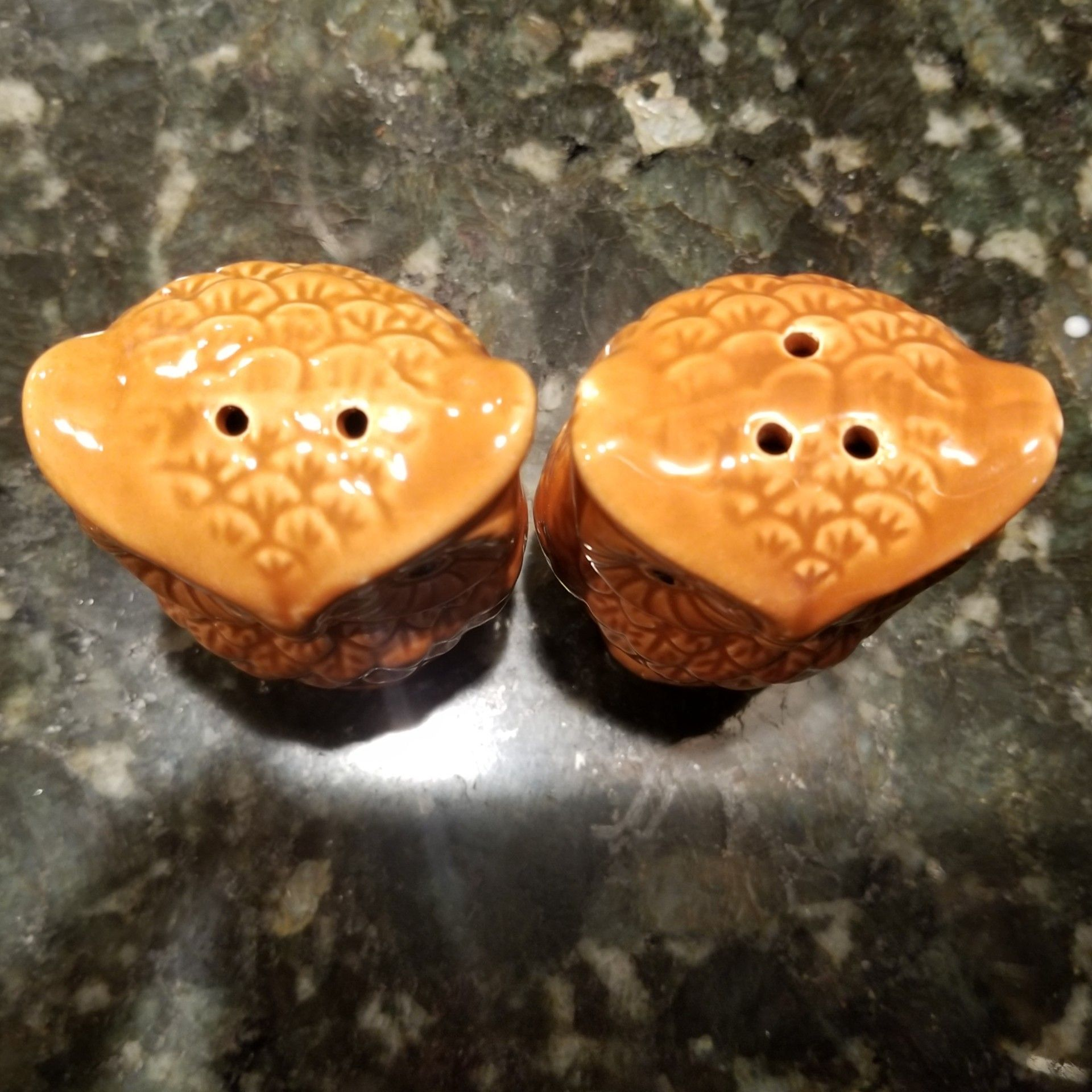 Owl Salt & Pepper Shakers Fall Thanksgiving Holiday Decor