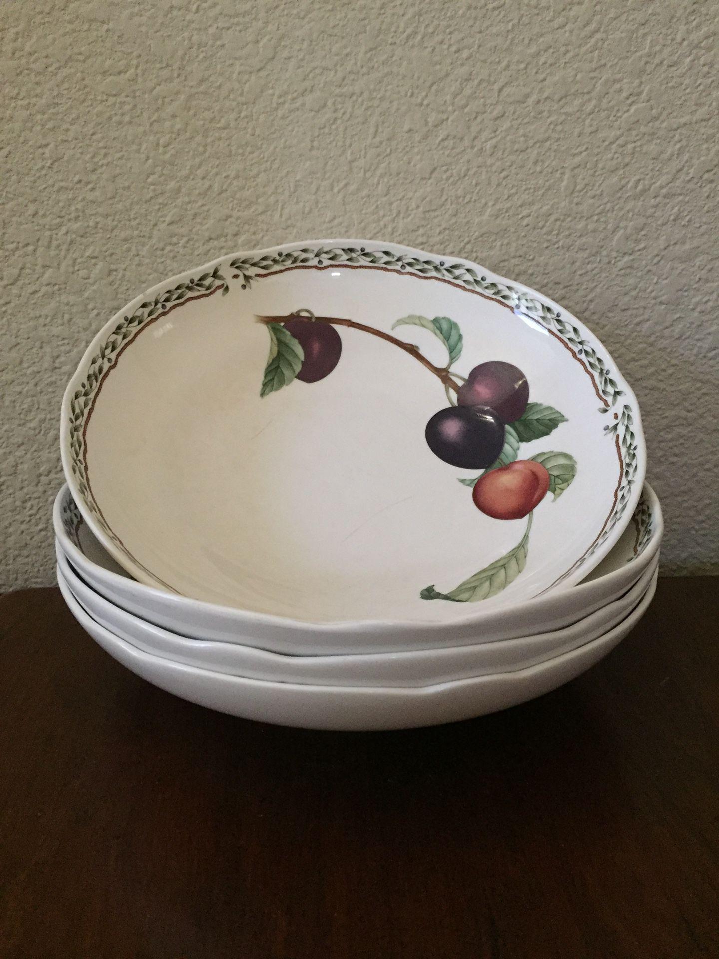 Royal OrchRd by Noritake Cereal Bowl & Fruit Bowl