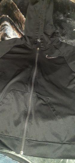 Nike Dri Fit Zip Up Hoodie Black Size S (Small) Thumbnail