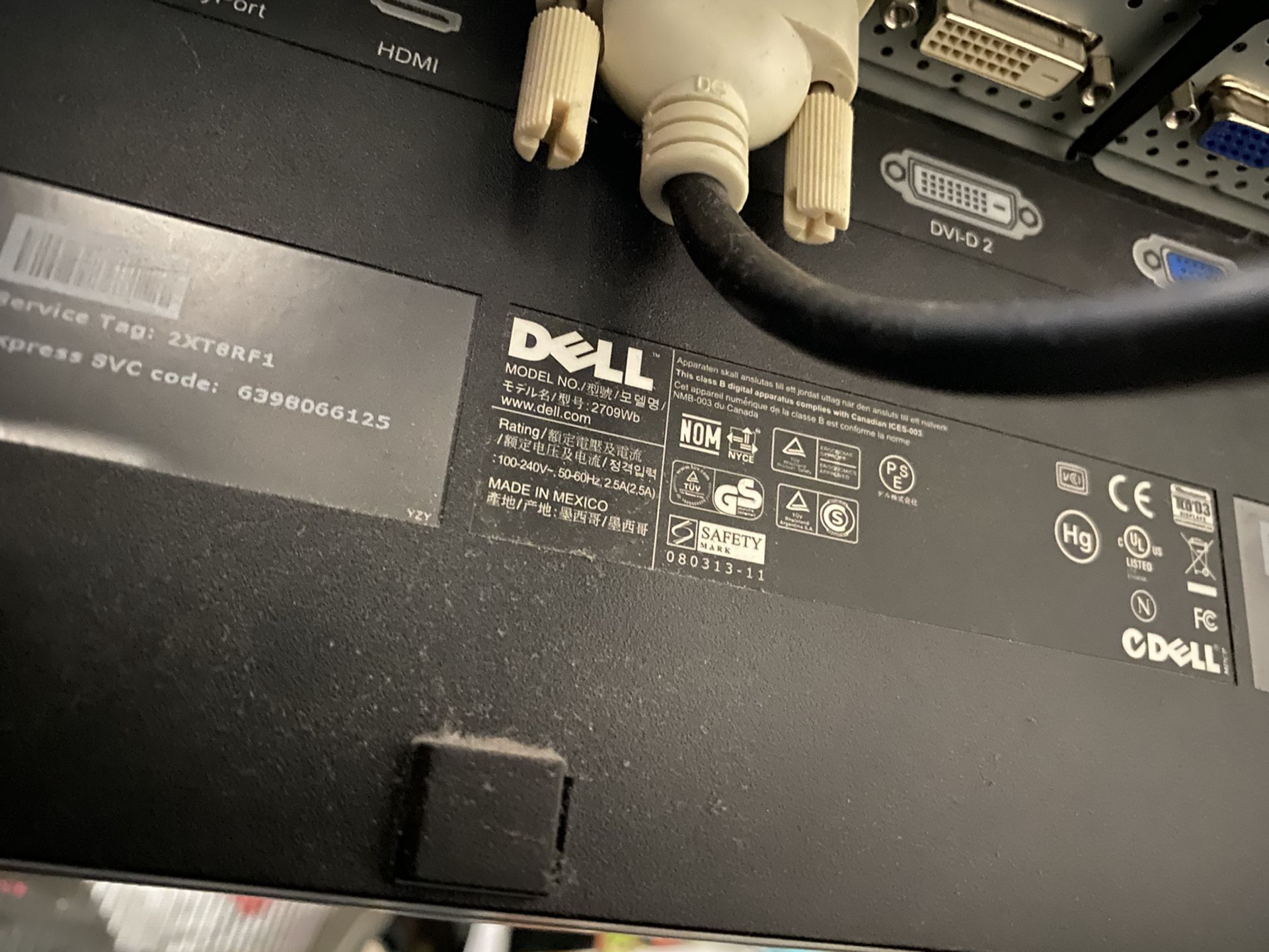 "27"" Dell UltraSharp 2709Wb"