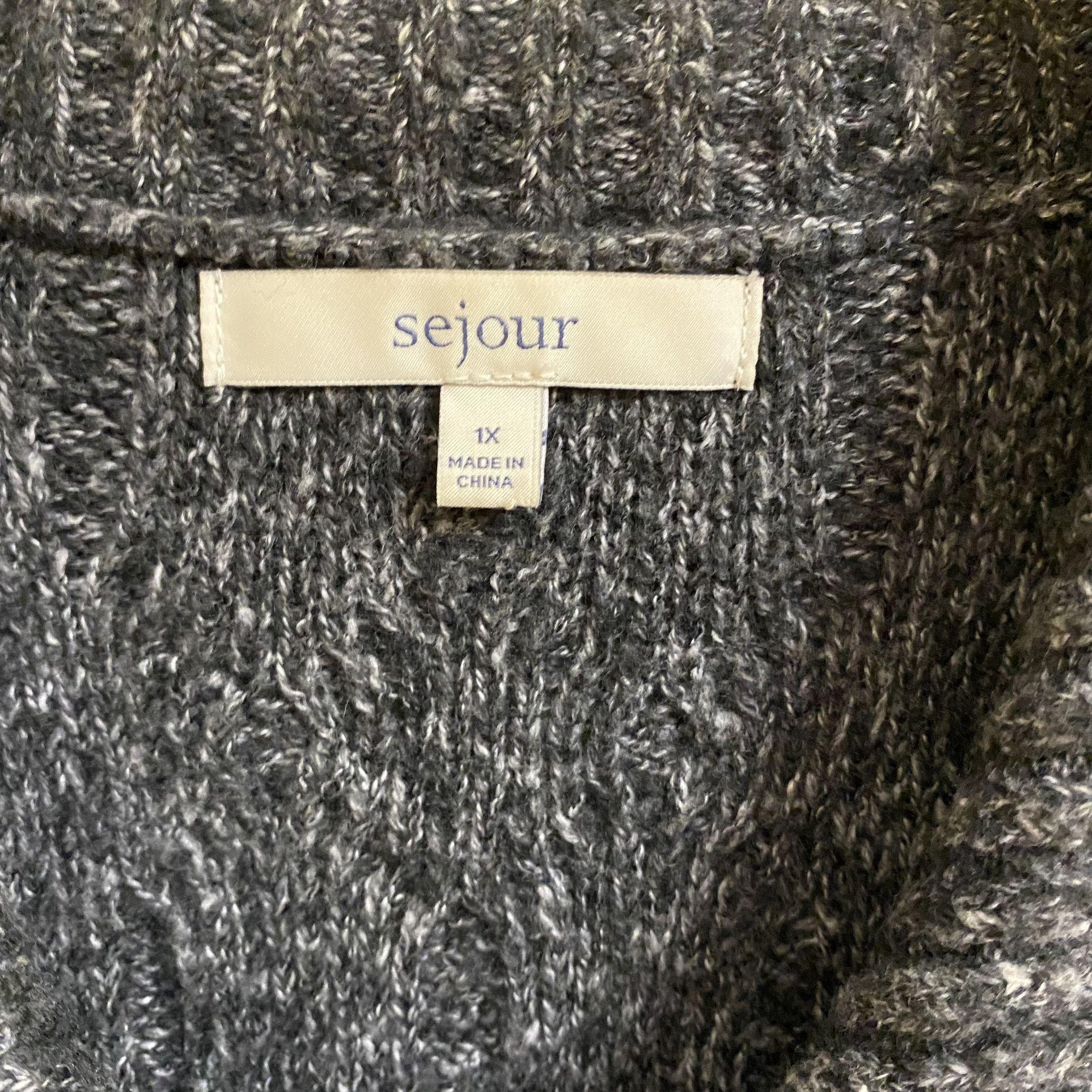 Dark Grey Sejour Sweater Vest Size 1X