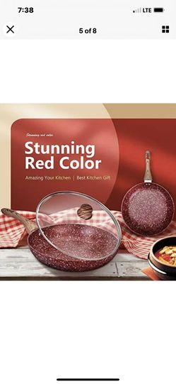 CSK 10 & 12 In Cookware With Matching Lids Red Thumbnail