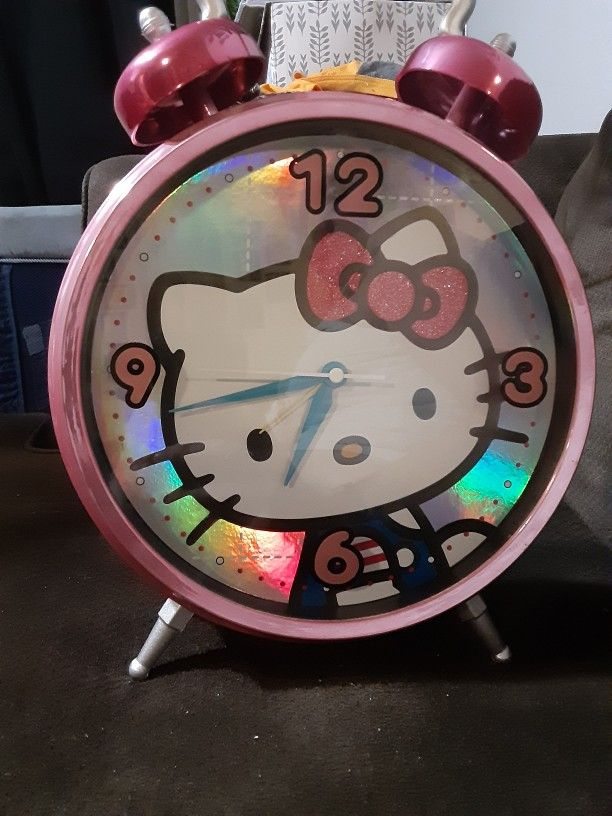 Hello Kitty Twin Bell Pink Jumbo Alarm Clock