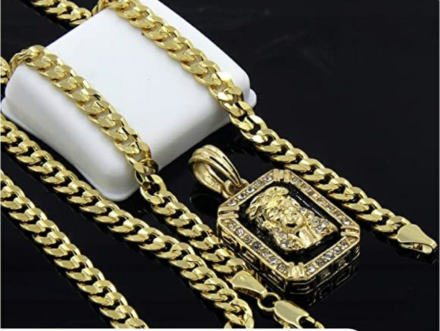 Mens gold-plated hip hop iced Jesus face
