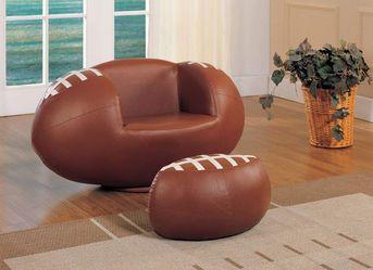 2pc Football Chair and Ottoman Set Thumbnail