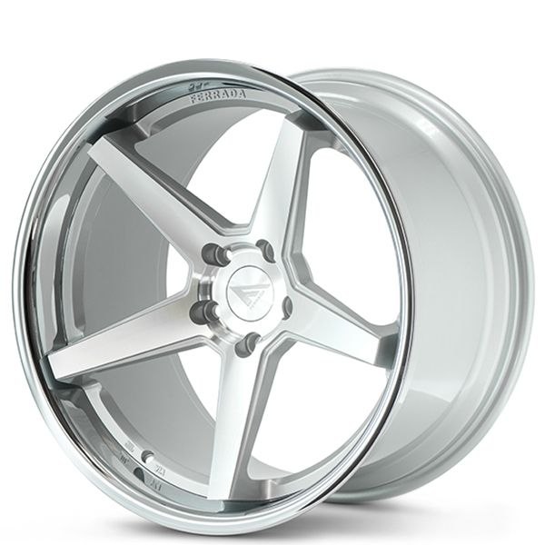 """20"""" Staggered Ferrada FR3 Silver Machined with Chrome Lip Rims"""