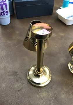 Brass Tea light candle holder with shade Thumbnail