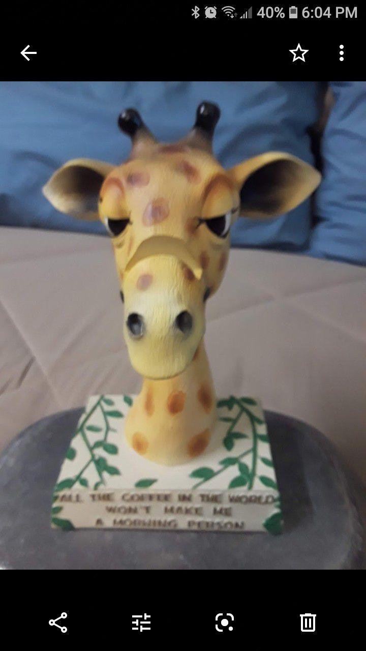 Wood eyeglasses HOLDER .giraffe