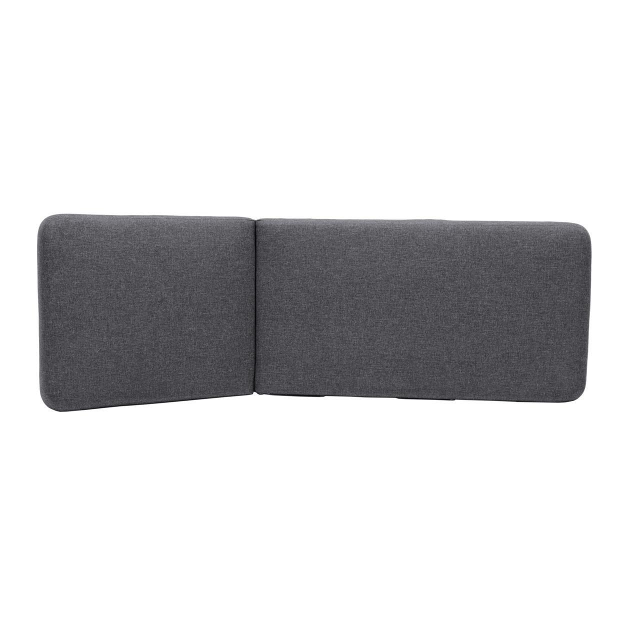 Saltoro Sherpi 74 Inches Fabric Padded Aluminum Chaise Lounge, Dark Gray