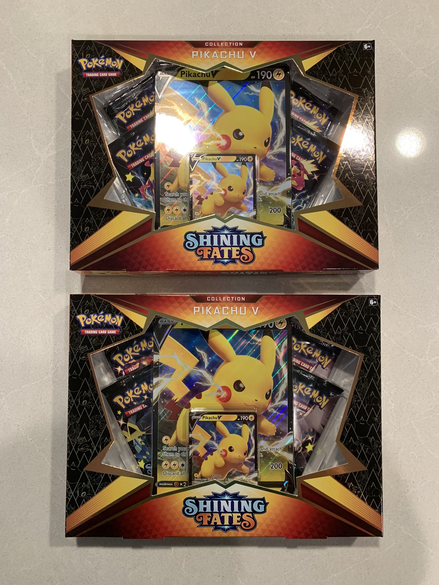 Pokémon TCG Shining Fates Pikachu V boxsets *SEALED* Pokemon Gigantamax Charizard Card Game