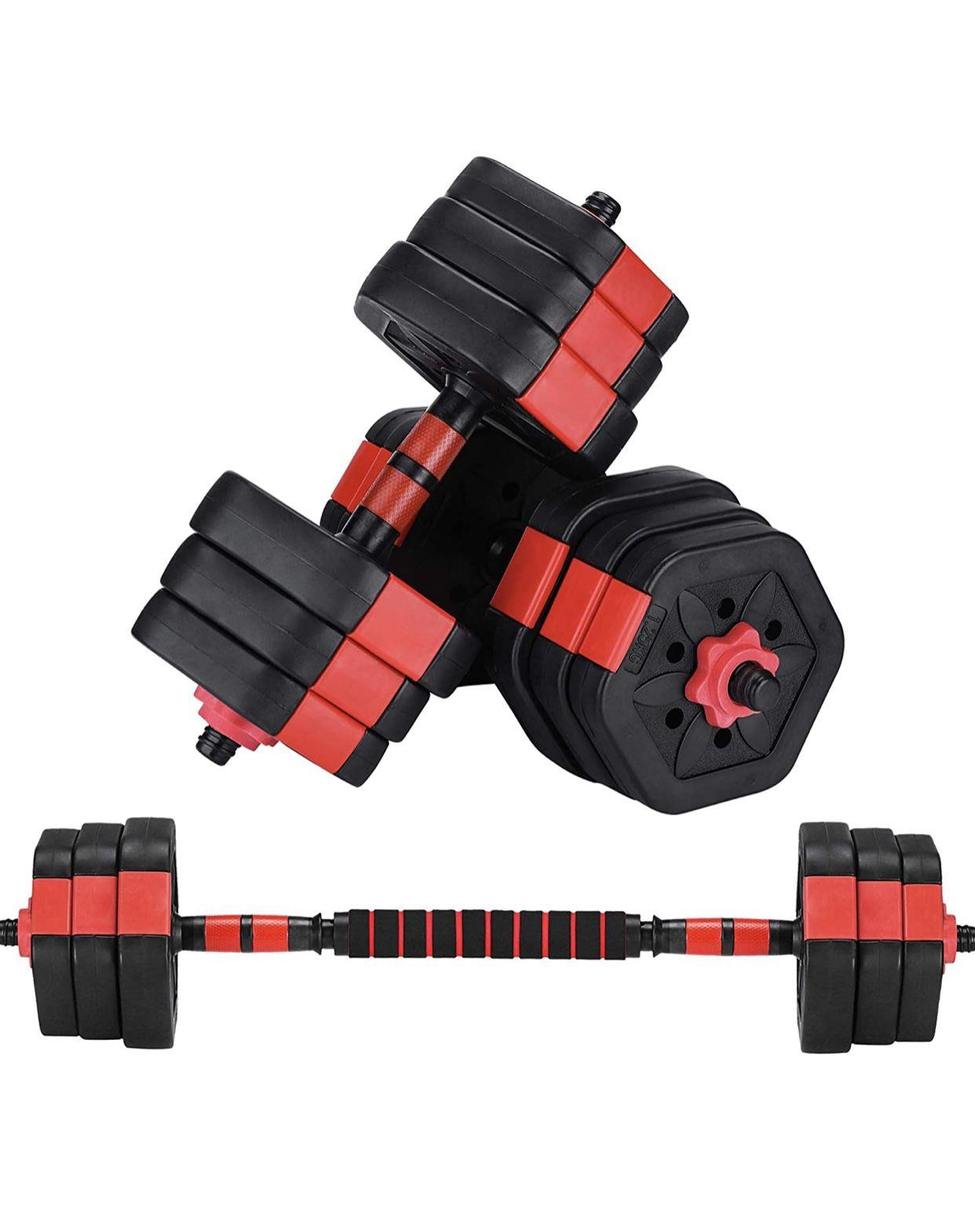 Adjustable Dumbells/ Barbell Set