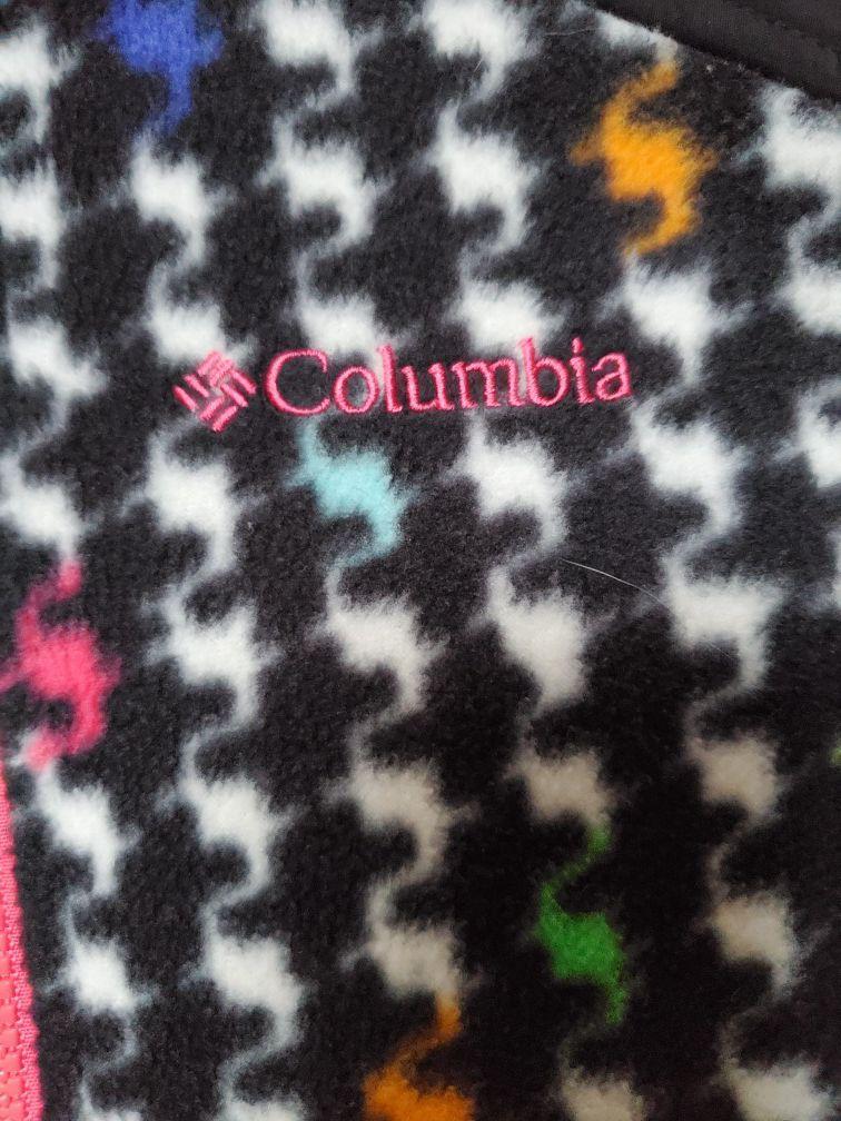 COLUMBIA GIRL'S RAINBOW FLEECE JACKET!