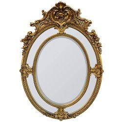 World Of Decor Gold Mistress Oval Mirror 36X68 Specialty Used To Stage Model Home Ornate Beveled Excellent Mint Condition Used To Stage A Model H Thumbnail