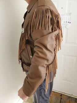 Custom Deerskin Leather Indian Motorcycle Jacket Thumbnail