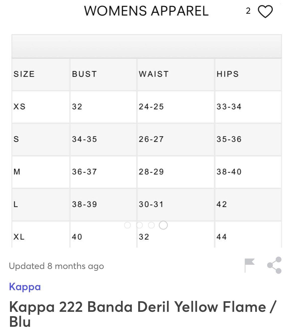 Women's Yellow Kappa 222 Banda Skin Leggings Size L